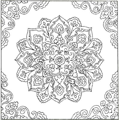 Coloriage et dessins gratuits Adulte Fleurs pour décoration à imprimer