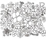 Dessiner en ligne vos coloriages préférés de Adulte Fleurs