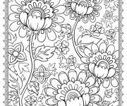 Coloriage et dessins gratuit Adulte Belles Fleurs à imprimer
