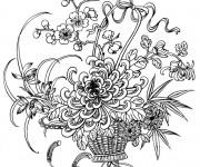 Coloriage Adulte Fleur Princesse de nuit