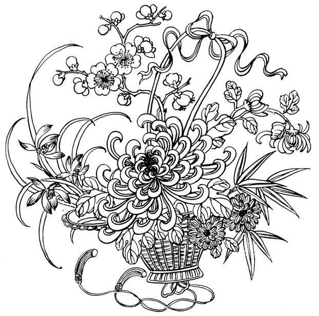Coloriage et dessins gratuits Adulte Fleur Princesse de nuit à imprimer