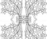 Coloriage et dessins gratuit Adulte Fleurs 12 à imprimer