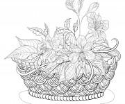 Coloriage et dessins gratuit Adulte Fleurs 5 à imprimer