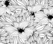 Coloriage Adulte Fleurs par tout