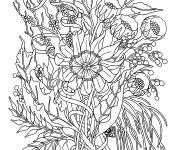 Coloriage et dessins gratuit Fleurs Adultes à imprimer