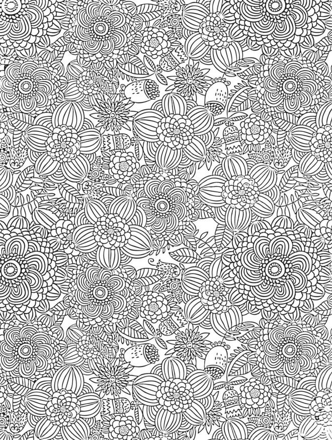 Coloriage et dessins gratuits Fleurs difficile à télécharger à imprimer