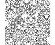 Coloriage et dessins gratuit Fleurs difficile stylisé à imprimer