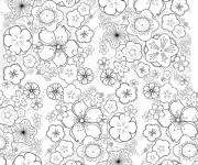 Coloriage et dessins gratuit Fleurs exotiques à imprimer