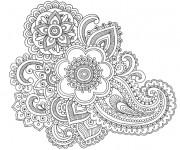 Coloriage et dessins gratuit Mandala Fleurs adulte à imprimer