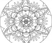 Coloriage Mandala Fleurs facile à colorier