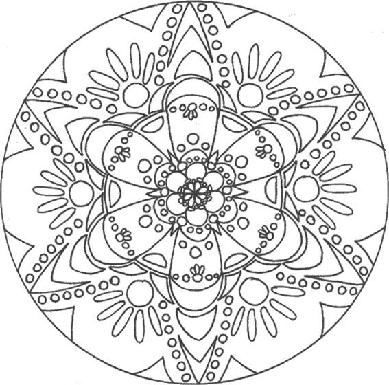Coloriage et dessins gratuits Mandala Fleurs facile à colorier à imprimer