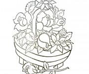 Coloriage et dessins gratuit Panier de Fleur présentable à imprimer