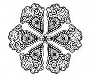 Coloriage et dessins gratuit Pétales de Fleur mandala à imprimer
