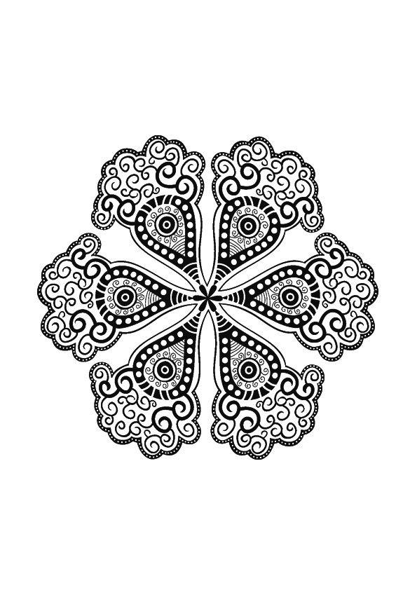 Coloriage p tales de fleur mandala dessin gratuit imprimer - Coloriage fleur 8 petales ...