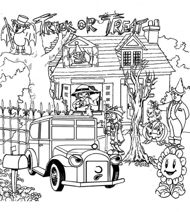 Coloriage et dessins gratuits Adulte Halloween Difficile à imprimer
