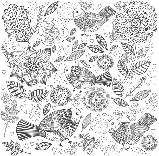 Coloriage et dessins gratuits Adulte Anti-stress à colorier à imprimer
