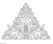 Coloriage et dessins gratuit Adulte Forêt à imprimer