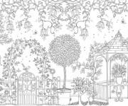 Coloriage et dessins gratuit Adulte Jardin 2 à imprimer