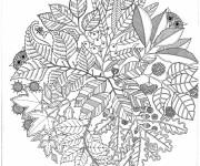 Coloriage et dessins gratuit Adulte Jardin et Nature à imprimer