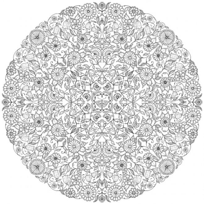 Coloriage adulte jardin mandala dessin gratuit imprimer for Jardin mandala