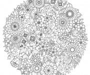 Coloriage et dessins gratuit Adulte Jardin Plantes à imprimer