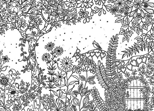 Coloriage Adulte Telecharger.Coloriage Adulte Jardin Printemps Dessin Gratuit A Imprimer