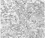 Coloriage et dessins gratuit Vie marine Anti-Stress à imprimer