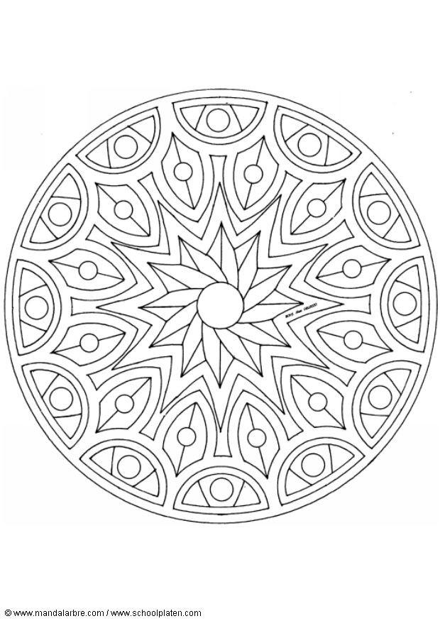 Coloriage et dessins gratuits Adulte Mandala Décoration à imprimer