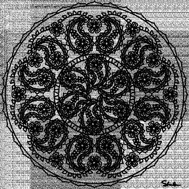 Coloriage et dessins gratuits Adulte Mandala en noir à imprimer