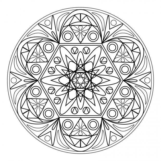 Coloriage et dessins gratuits Adulte Atomique Mandala à imprimer