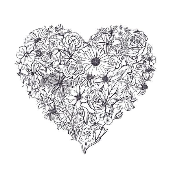 Coloriage et dessins gratuits Adulte Coeur Fleuri Mandala à imprimer