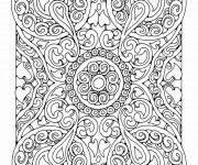 Coloriage et dessins gratuit Adulte Difficile 7 à imprimer