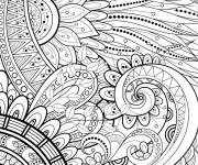 Coloriage Adulte Feuilles Mandala