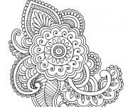 Coloriage et dessins gratuit Adulte Fleurs et Art en ligne à imprimer