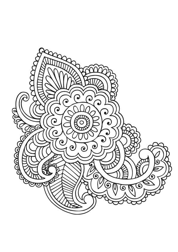 Coloriage et dessins gratuits Adulte Fleurs et Art en ligne à imprimer