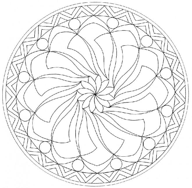 Coloriage et dessins gratuits Adulte Lotus Art Thérapie à imprimer