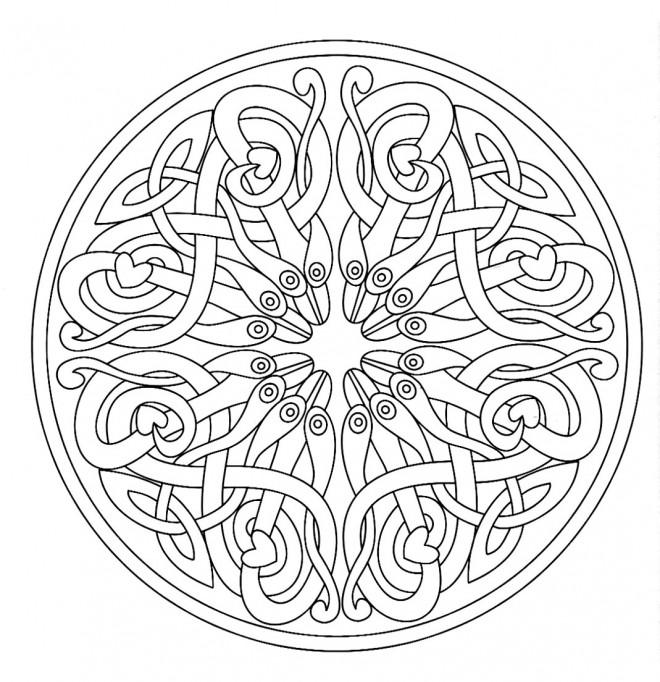 Coloriage et dessins gratuits Adulte Mandala Art à imprimer