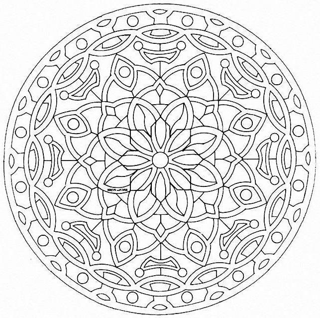 Coloriage et dessins gratuits Adulte Mandala décoratif à imprimer