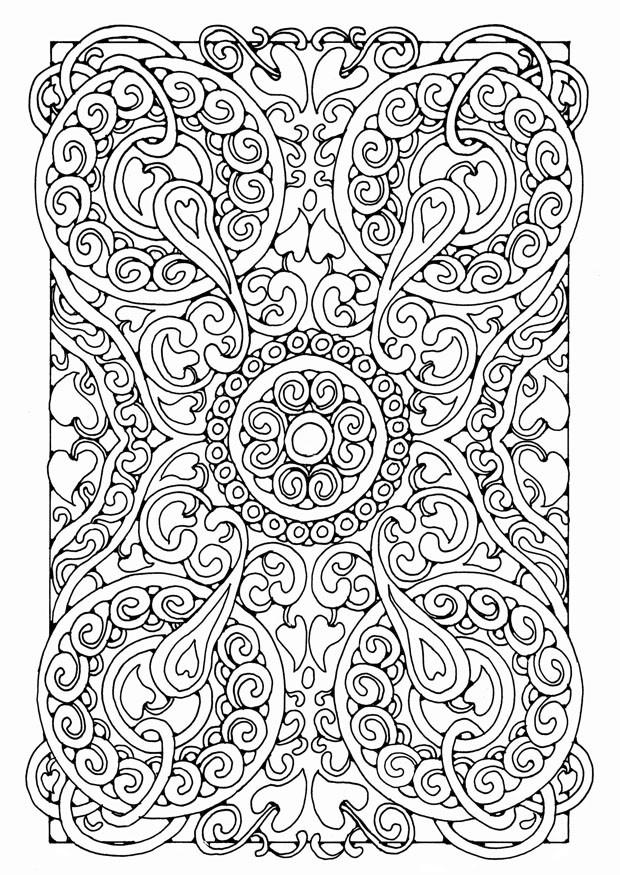 Coloriage et dessins gratuits Adulte Mandala Difficile à imprimer