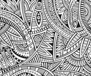Coloriage et dessins gratuit Adulte Mandala Dur à imprimer