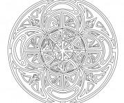 Coloriage et dessins gratuit Adulte Mandala maternelle à imprimer