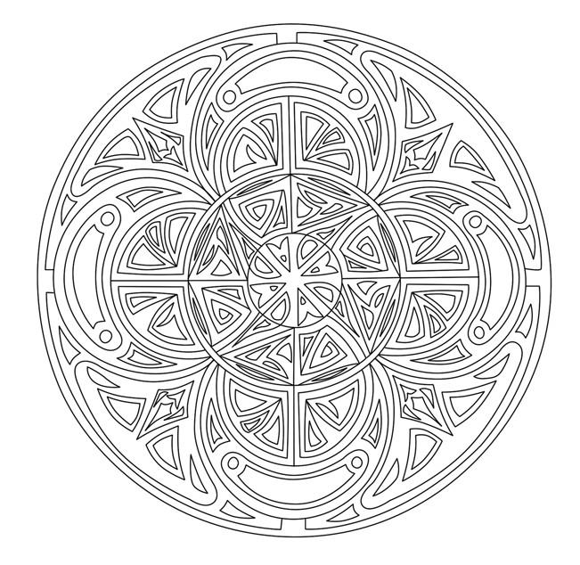 Coloriage et dessins gratuits Adulte Mandala maternelle à imprimer