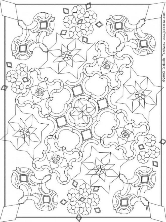 Coloriage Adulte Mosaique Mandala Dessin Gratuit A Imprimer