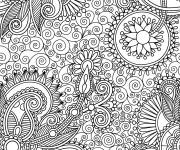 Coloriage et dessins gratuit Anti-Stress Nature difficile à imprimer