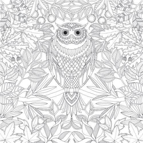 Coloriage et dessins gratuits Hibou Animaux Mandala à imprimer