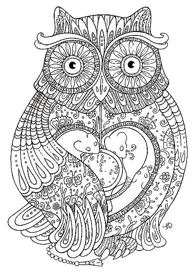 Coloriage et dessins gratuits Hibou mandala à imprimer
