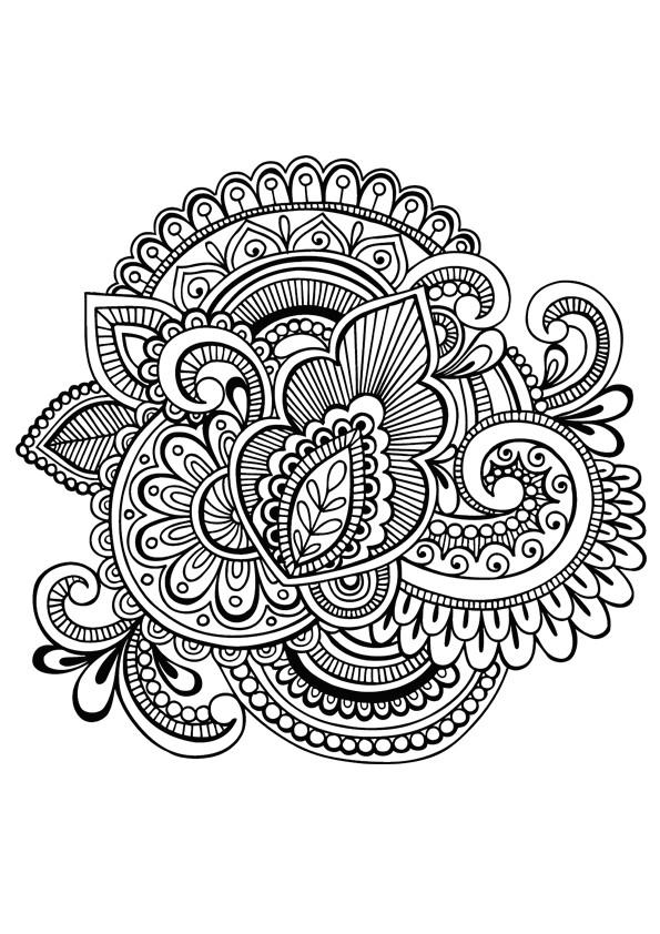 Coloriage mandala adulte nature dessin gratuit imprimer - Coloriage nature a imprimer ...