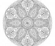 Coloriage et dessins gratuit Mandala anti-stress à imprimer