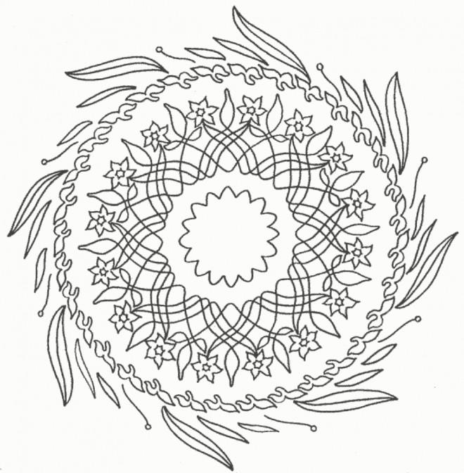 Coloriage et dessins gratuits Mandala difficile Fleurs à imprimer