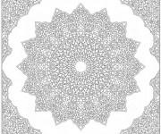 Coloriage et dessins gratuit Mandala Étoile stylisé difficile à imprimer